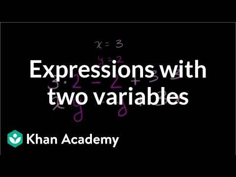 Evaluating expressions with two variables (video) | Khan Academy