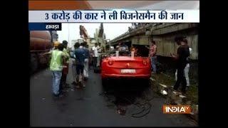 Kolkata: Businessman killed after ferrari rams into road divider in Howrah district