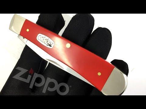 50518 Нож перочинный Zippo Red Synthetic Smooth Trapper, 105 мм, красный