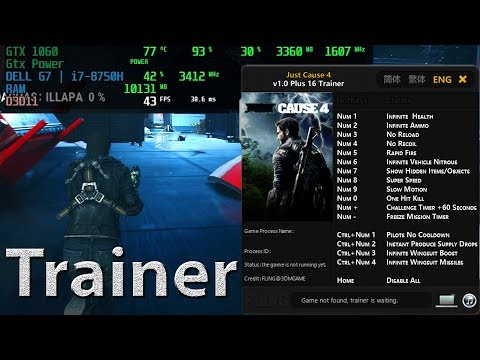 Just Cause 4 Trainer Infinite Health Ammo No Reload Super Speed And More