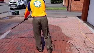 Power washing. jet washing.jet cleaning block paving