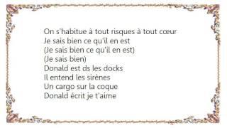 Christophe Maé - Donald Dans Les Docks Lyrics