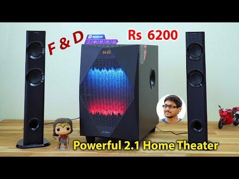Powerful 2.1 Home Theater System for 6200 Rs   F&D T300X Unboxing & Review