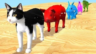 Old MacDonald Had A Farm | Nursery Rhymes Songs With Farm animals are transformed into wildlife