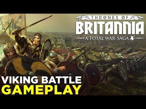 Total War Saga: Thrones of Britannia — VIKING BATTLE GAMEPLAY & Impressions!