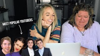 MY MOM REACTS TO POPULAR YOUTUBERS - Video Youtube