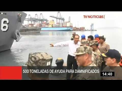 BAP Pisco zarpa al sur con 500 toneladas de ayuda