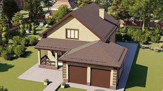 Проект дома 210-B, Площадь дома: 210 м2, Размер дома:  14x23,2 м