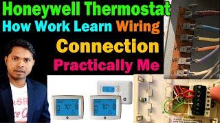 AC Honeywell Digital thermostat How work Wiring diagram instruction setting everything learn Hindi
