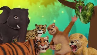 Jungle  Jungle – Animal Song | Hindi Rhymes for Children | Infobells