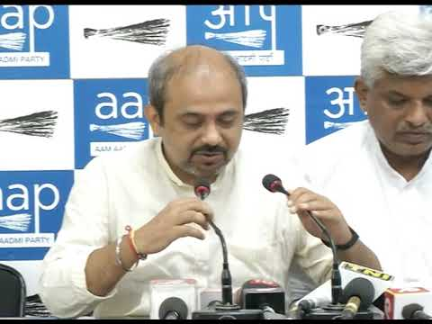 AAP Senior Leader Pankaj Gupta & AAP Leader Dilip Pandey Briefs on Vijay Mallya & Arun Jaitley Meet