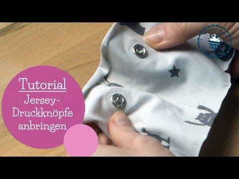 Jersey Druckknöpfe anbringen | Tutorial | How To | DIY Nähanleitung | mommymade