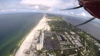 Flying from Gulf Shores to Dauphin Island June 2014