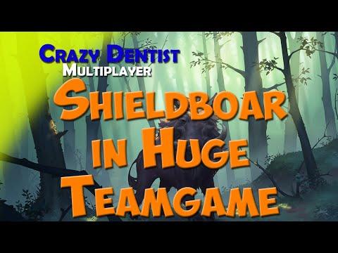 Shieldboar in Huge Teamgame | Boar clan in 4v4 | Northgard