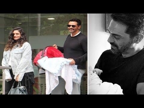 Arjun Rampal & GF Gabriella Demetriades with Baby Boy | TOO CUTE
