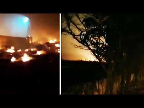 Iran plane crash: Footage appears to show moment Ukrainian jet crashes