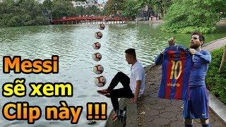 Thử Thách Bóng Đá mùa Asian Cup 2019 Đỗ Kim Phúc Việt Nam làm 5 kỹ thuật cực khó tặng Messi , Ramos