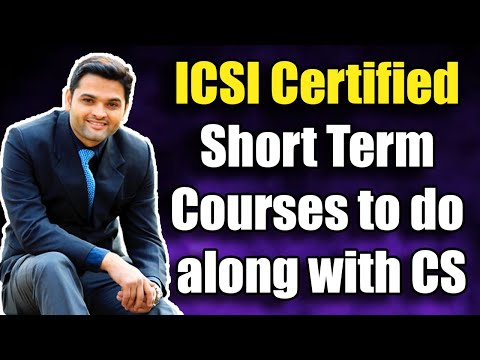 ICSI Certified Short Term Courses to do along with CS - YouTube