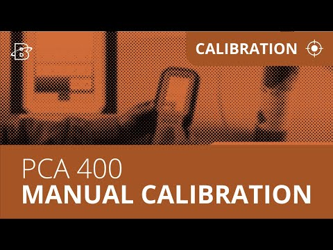 PCA-400 | How to Perform a Manual Calibration