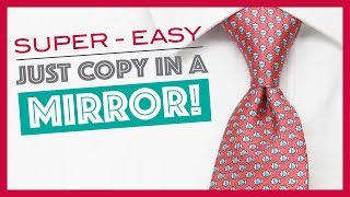 How to Tie-a-Tie - Half Windsor Knot (slowly mirrored) - Easy!