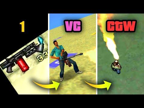 EVOLUTION of FLAMETHROWER in GTA GAMES 1997-2009