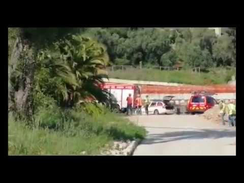 INCIDENTE SUL LAVORO ALL'EX HOTEL ANGST DI BORDIGHERA: OPERAIO FERITO GRAVEMENTE