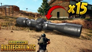 Crazy x15 Scope..!! | Best PUBG Moments and Funny Highlights - Ep.127