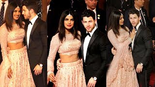 Priyanka Chopra & Nick Jonas Look So Beautiful & Happy As A Newly Wed Couple @ Isha Ambani's Wedding