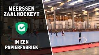 In Meerssen zaalhockeyen ze tegenwoordig in een papierfabriek
