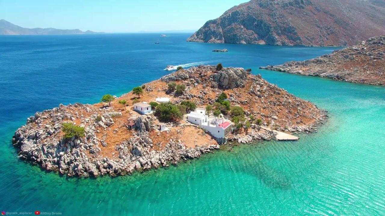 Tour in Symi Island - Ταξίδι στη Σύμη | Greece From Above (4k)