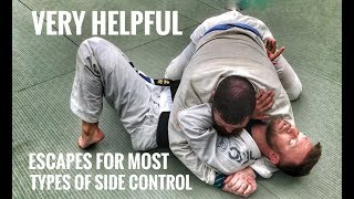 Jiu Jitsu Escapes | Ways Out Of Side Control, Scarf & Knee On Belly