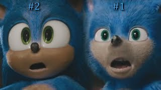Sonic The Hedgehog - Trailer Comparison Side by Side (2020)