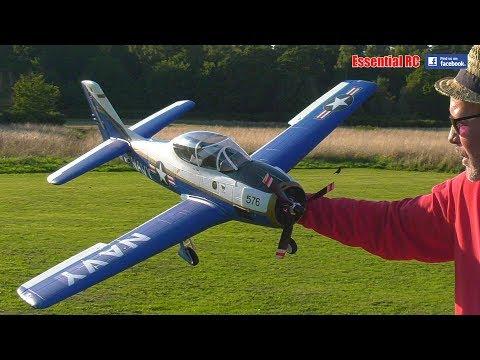 durafly-t28-trojan-naval-aviation-centennial-edition-1100mm-43-pnf-slow-flight--aerobatics