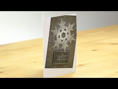 Hack - Christmas cards from leftover plastic