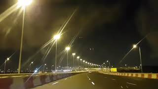 preview picture of video 'Time lapse video of a night journey through new orbital highway in Qatar'