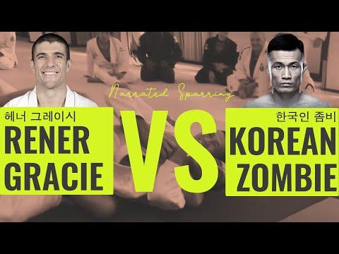 Rener Gracie vs Korean Zombie (Gracie University Narrated Sparring)