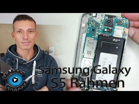 Samsung Galaxy S5 Rahmen Wechseln Tauschen Reparatur [Deutsch] Middle Frame