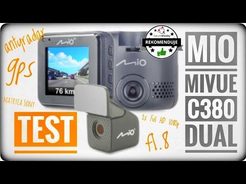 Podwójna kamera do auta z matrycami Sony i modułem GPS - Mio MiVue C380 Dual - recenzja test