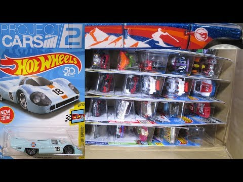 2018 F USA Hot Wheels Factory Sealed Case Unboxing With Project Cars 2 Porsche 917 LH
