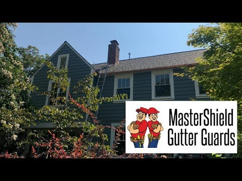 For this home in Chevy Chase, MD, we replaced the homeowner's copper gutters with new ones and outfitted them with copper MasterShield so they will never clog again.