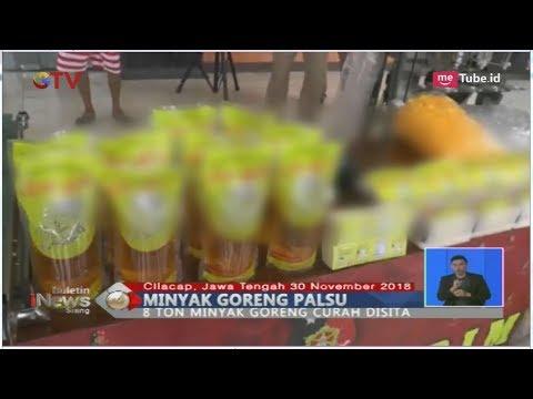 Bongkar Pabrik Minyak Goreng Palsu di Cilacap, Polisi Sita 8 Ton Minyak - BIS 01/12