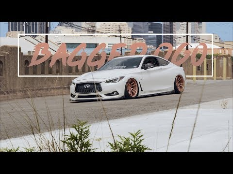 Bagged Infiniti Q60S Red Sport Coupe | (4K)
