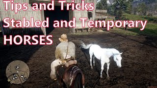 Red Dead Redemption 2 - Stabled and Temporary Horses (Tips and Tricks)
