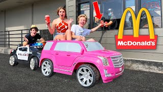 GOING IN DRIVE THRUS IN TOY CARS PRANK! 🚘   Piper Rockelle