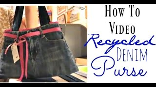Denim Purse How To Video Project