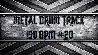 Groovy Metal Drum Track 150 BPM (HQ,HD)