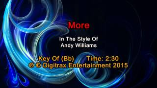 Andy Williams - More  (Backing Track)