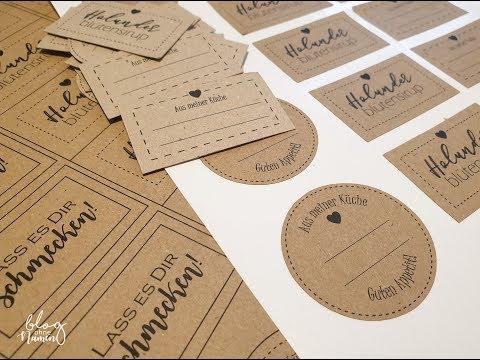 Etiketten für Marmeladen mit der Silhouette Software erstellen