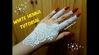 Diy hennamehndi tattoofancy a tattoo design with hennabeautiful how to apply easy simple stripbail white henna mehndi designs on hands for altavistaventures Images