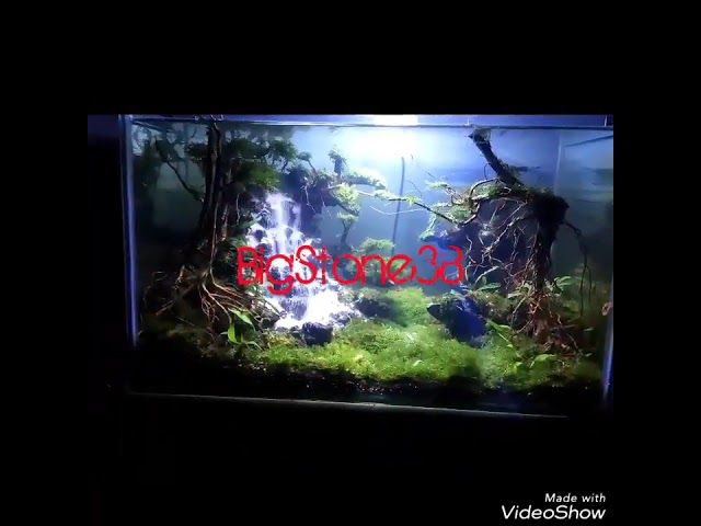 Aquascape sand waterfall/ air terjun bigstone38